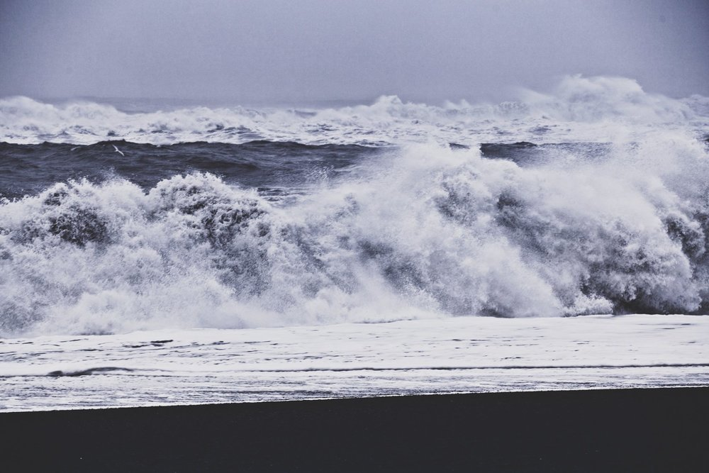 Sea waves which can cause 'sneaker waves' driven by the tides that strike out of nowhere.