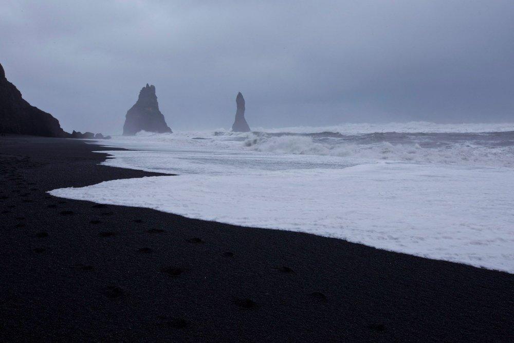 The famous Black Sand Beach at Reynisfjara