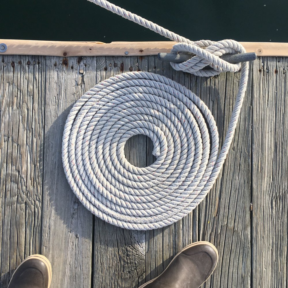 I love to make the dock lines look pretty.