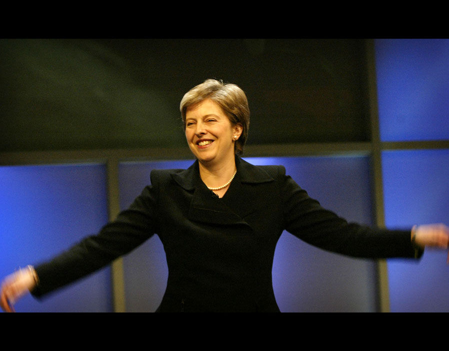 Theresa May at the Conservative Party Conference in 2003