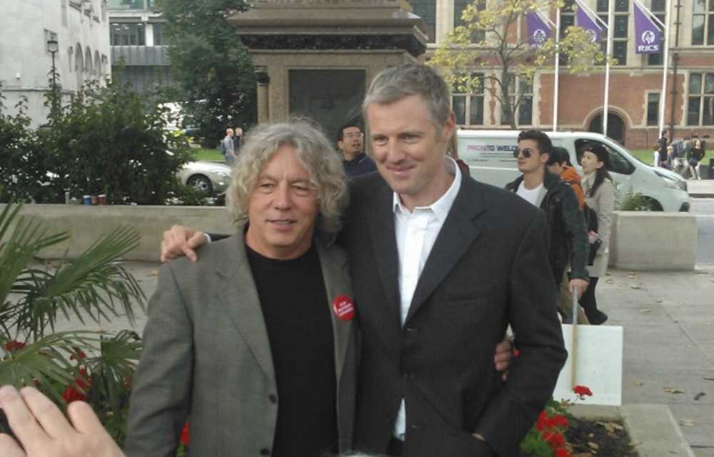 Neil Keveren with Zac Goldsmith after the No Third Runway rally in Parliament Square