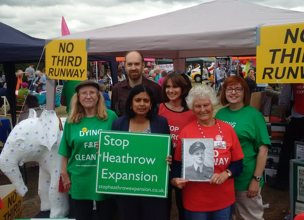 Dr. Rupa Huq MP (Labour, Ealing Central & Acton) joins campaigners at the Brentford Festival on 4 September 2016