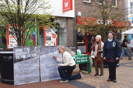Maidenhead 2009 - May was keen to show Friends of the Earth that she cared about the environment - or was she just thinking about the General Election in 2010?