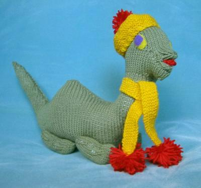 "Terminal 5 held an event to knit this and other ""Nessie"" toys to promote the first Loch Ness Knit Fest in September."