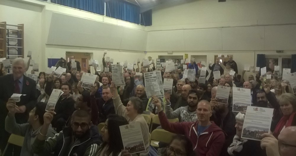 John McDonnell MP's packed meeting of concerned residents following the government's announcement