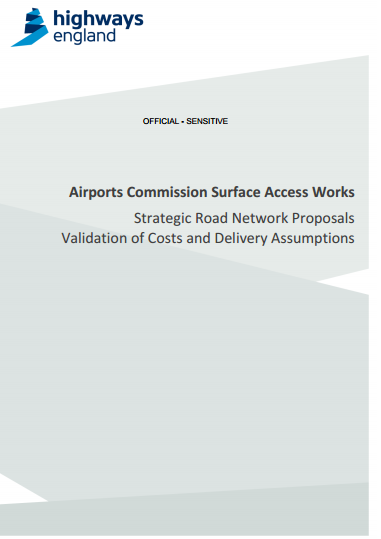 Front page of the report which the government describe as 'rationale' for their preference of Heathrow expansion