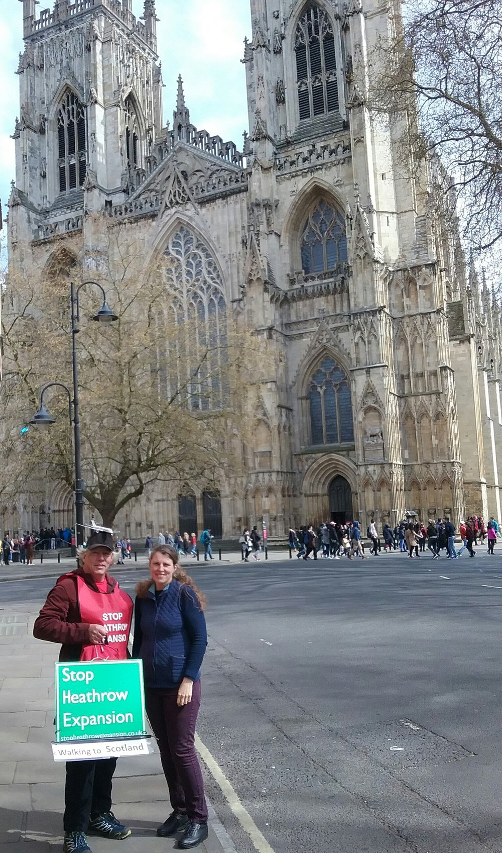 Neil with Rachael Maskell MP at York Minster