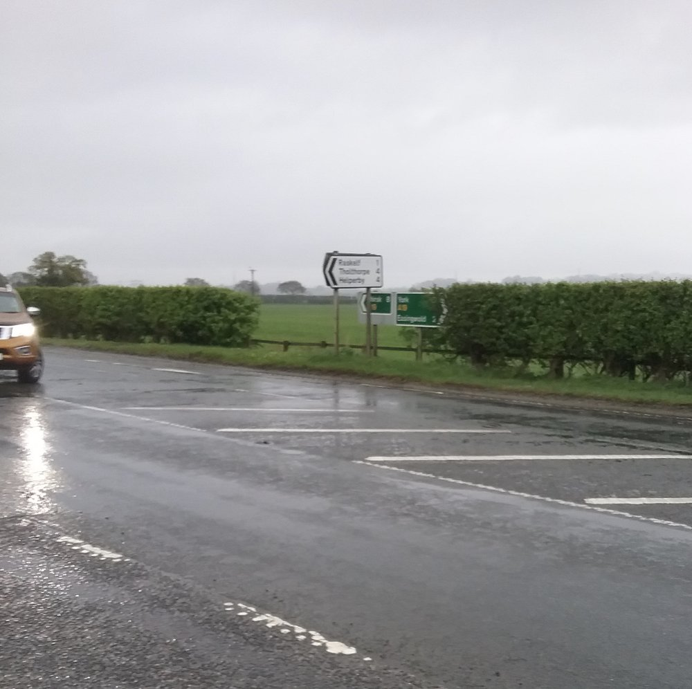 Seven miles to Thirsk - and wet, wet, wet