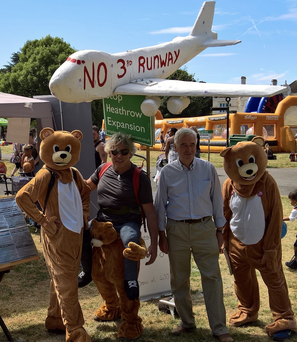 Highlighting the need to prioritise the bare necessities of life - with John McDonnell MP at the Hayes Carnival this summer.