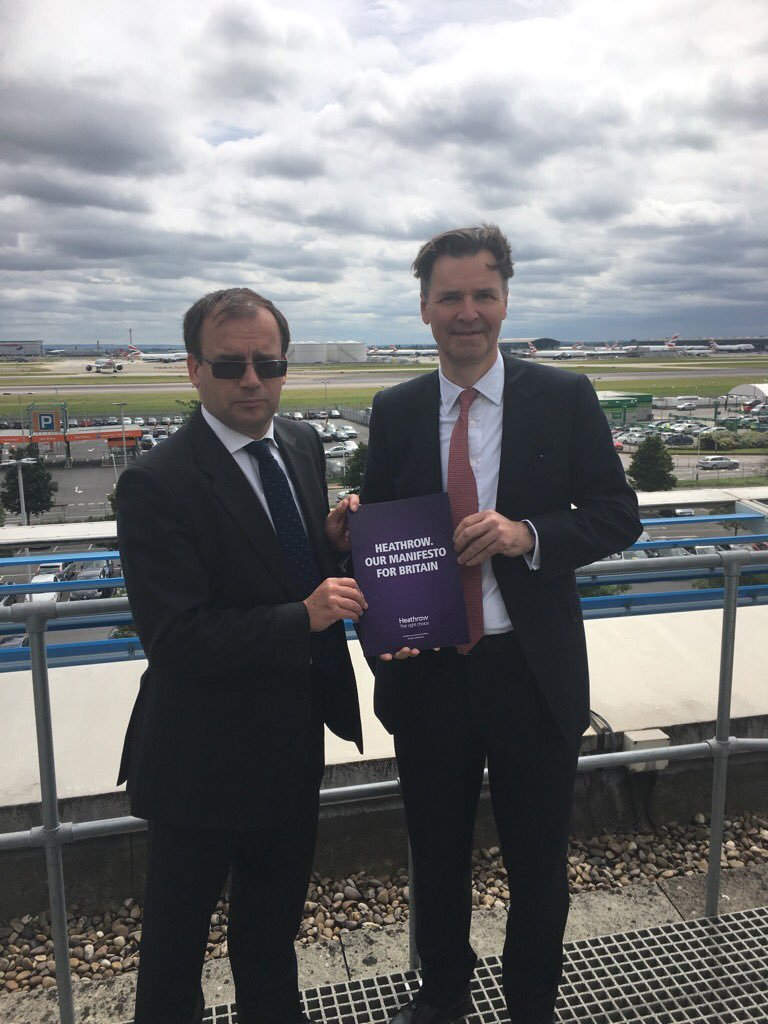 Gareth Thomas MP cozies up to Heathrow CEO John Holland Kaye