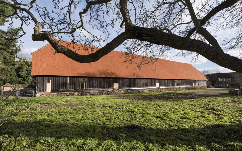 The Great Barn looks stunning with its renovated roof - drop by and sit it for yourself