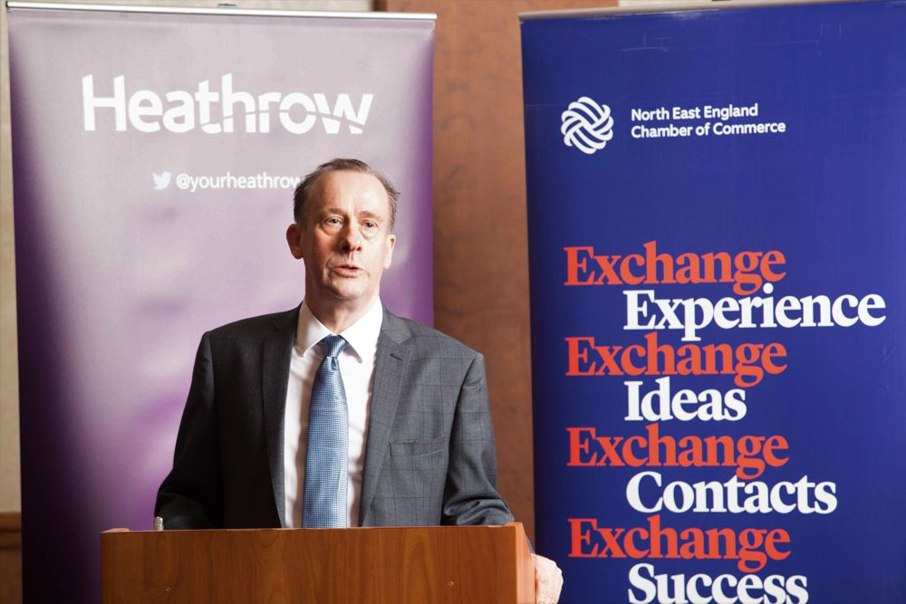 Aviation Minister Lord Callahan promotes Heathrow expansion at the airport's business summit in the North East in September 2017.  He wanted £17bn of taxpayer's money to be spent on transport infrastructure around Heathrow (a foreign-owned company) rather than in the North East. A month later he became Secretary of State at the Department for Exiting the Europe Union.