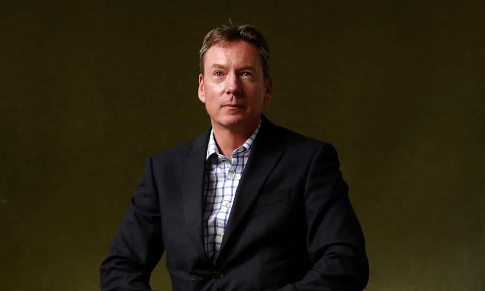 Journalist Frank Gardner, left paralysed by a bullet while on assignment.