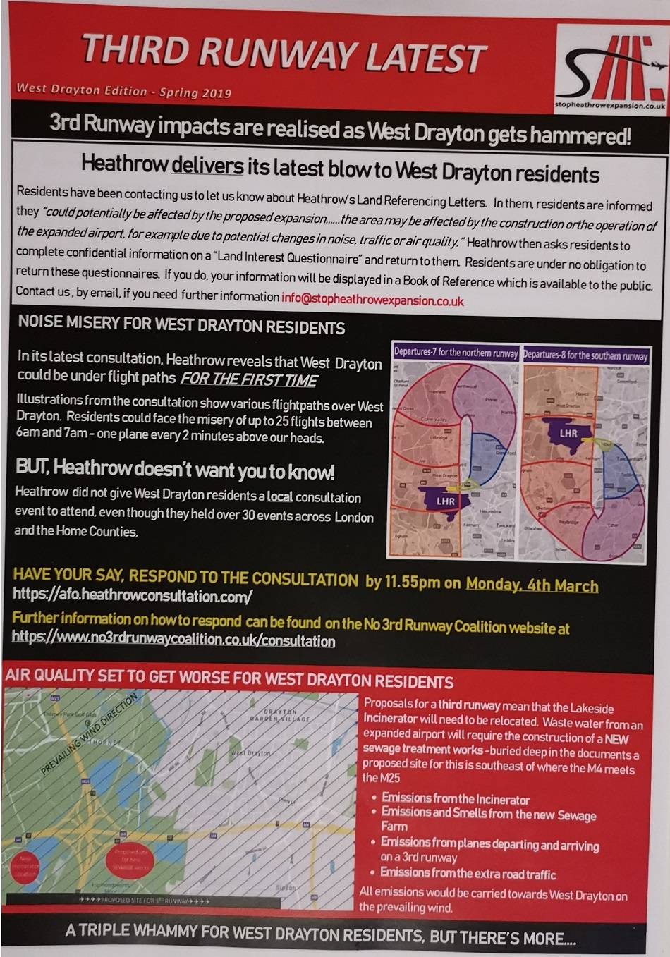 3rd Runway impacts are realised as West Drayton gets hammered!