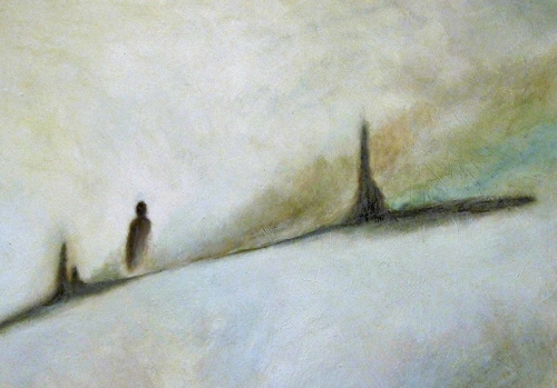 """  Behind "", oil on canvas, private collection"
