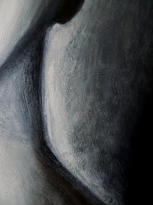 """ Ghost "", oil and charcoal on canvas, private collection"