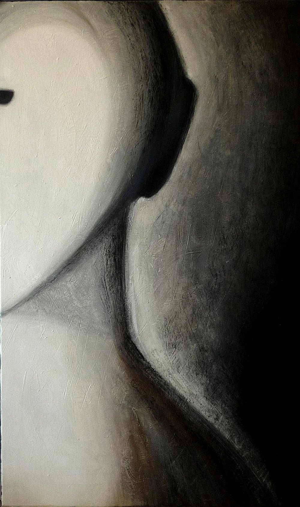 """ Ancestor "", oil and charcoal on canvas"