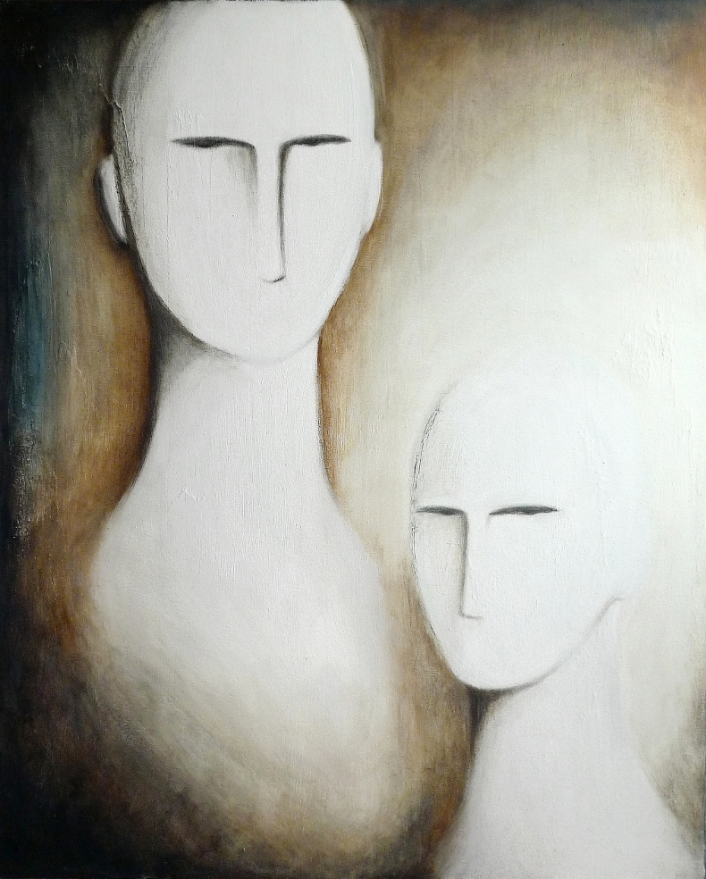 """ Two "", oil and pigments on canvas"
