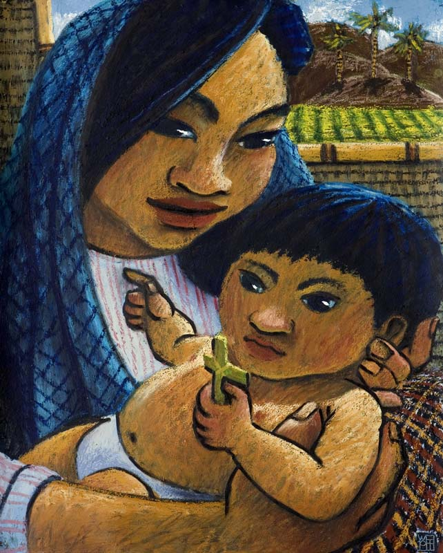 #1420 MADONNA AND CHILD WITH CANEFIELD, 2011