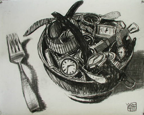 #635 BOWL OF WATCHES (Homage to P.G.), 2004