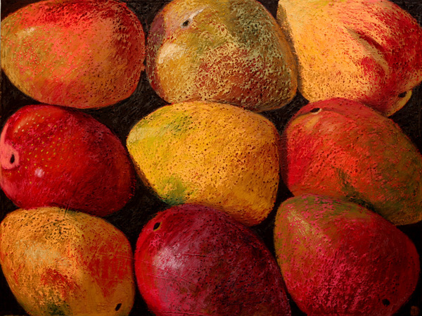 #1086 STUDY FOR NINE MANGOS, 2007