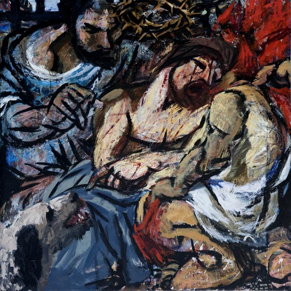 #443 FLAGELLATION (after Van Dyck), 1989