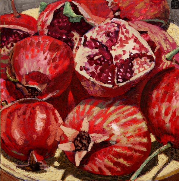 #1150 DISH OF POMEGRANATES, 2002