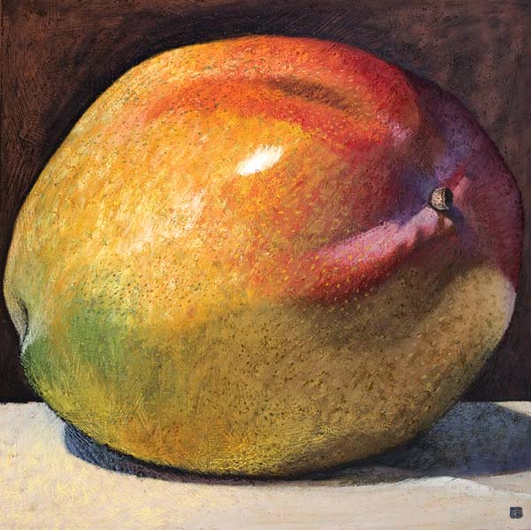 #1362 LARGE MANGO WITH PURPLE SHADOW, 2008