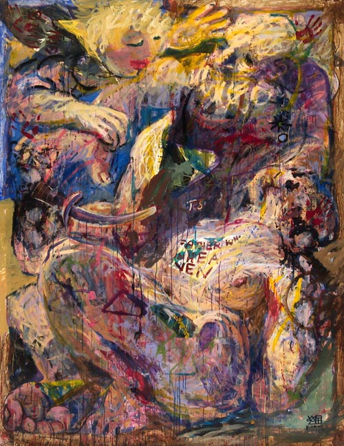 #475 ABRAHAM AND ISAAC (after Rembrandt), 1990