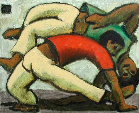 #717 CAPOEIRISTAS; RED, GREEN AND YELLOW, 1999