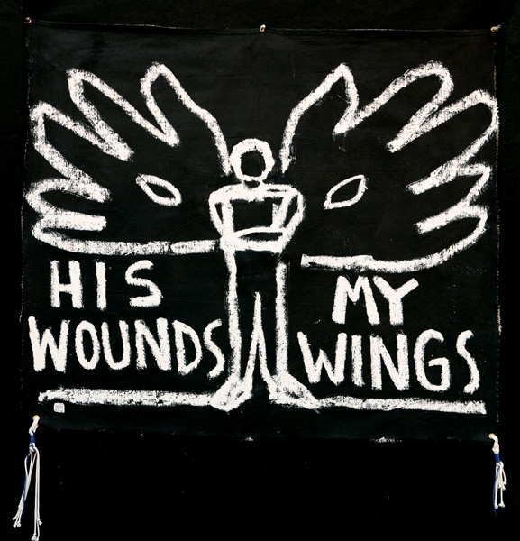 HIS WOUNDS, MY WINGS (Tallit), 2006