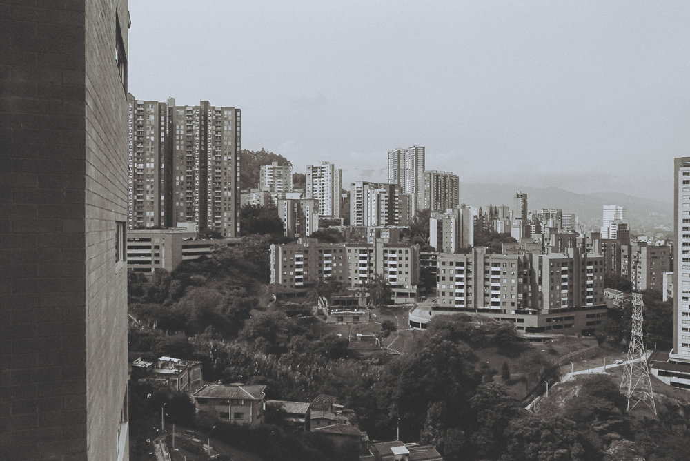 The skyline of El Poblado, my new favorite neighborhood in South America.