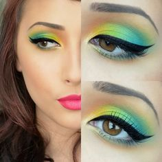 70's Tropical Eyes ( Green & Yellow )