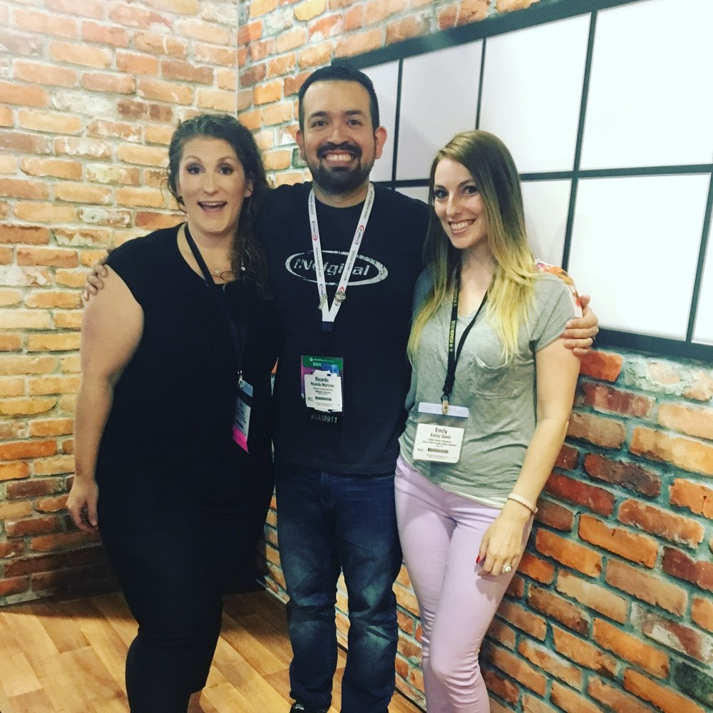 Me, Ricardo, and Emily at the APCO 2018 Convention Expo