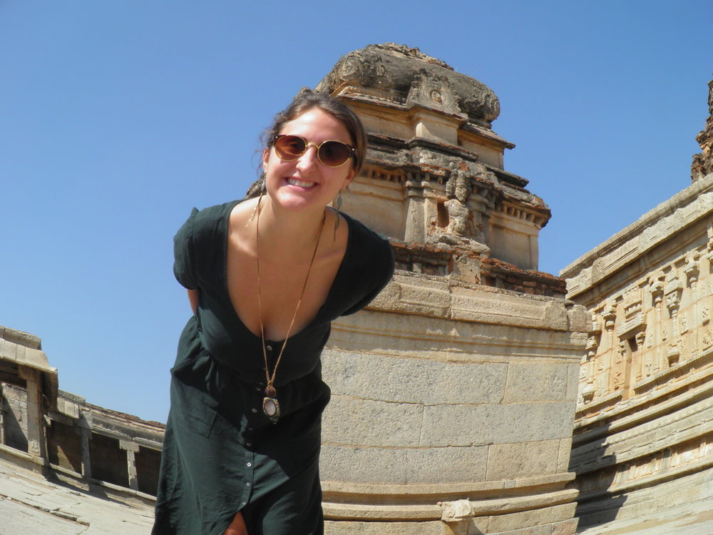 Avery in Hampi, India