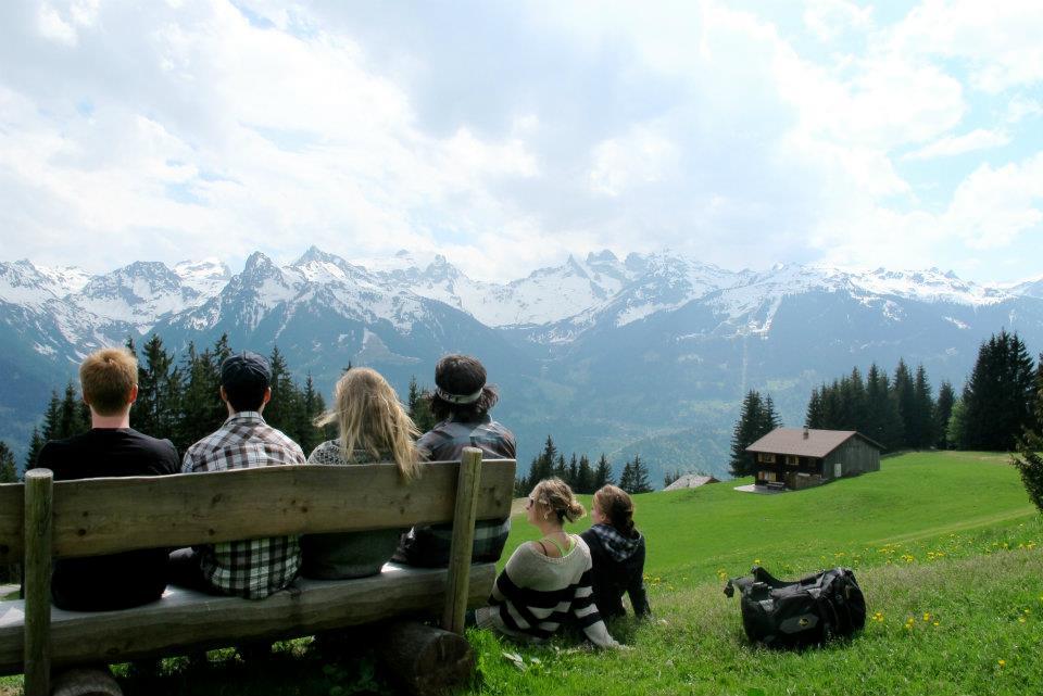 Friends in the Alps in Austria