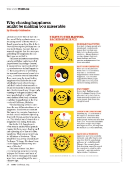Why Chasing Happiness Might be Making you Miserable    Time Magazine   October 12, 2015