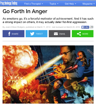 Go Forth In Anger    Psychology Today  March 11, 2014