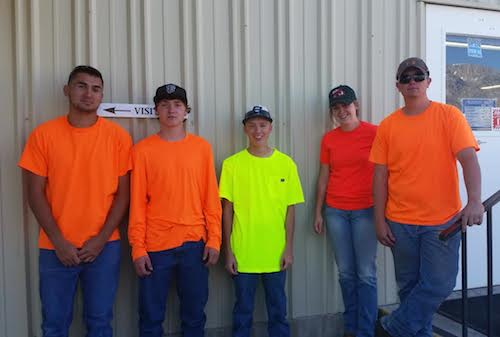 The Independence Kid Crew From left to right: Ryan Cappello, Austin Jones, Chance Womack, Lacie Jones, Eddie Ivey