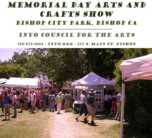 It's time again for the Memorial Day Arts and Crafts Show in the Bishop City Park. Come browse a large selection of fine arts, craft items, foods, and much, ...