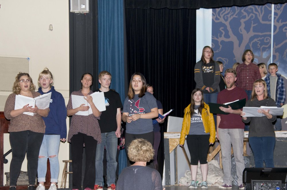 Cast of Into the Woods Rehearsing a Song.JPG