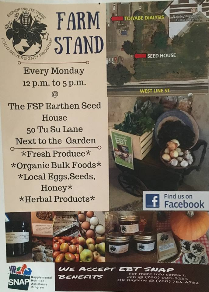 Farm Stand - Bishop Piaute Tribe Food Sovreignty Program @ FSP Earthen Seed House | Bishop | California | United States