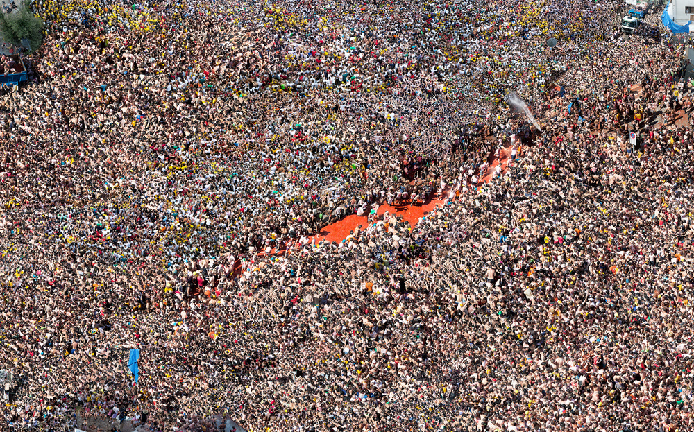 La Tomatina. 2012 Digital Pigment Print  64 x 94 inches