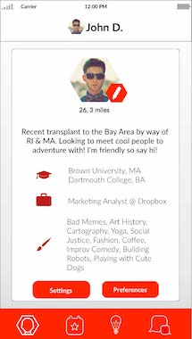 My Profile   — what others see. Change your settings and preferences to personalize your discovery pool.