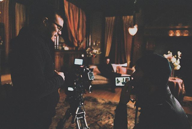 discussing a shot with automata dp nacime khemis #onset #filming #filmmaking #filmmaker #filmmaker🎥 #filmproduction #filminwa #stimsongreenmansion #automata #directorofphotography #dp #behindthescenes