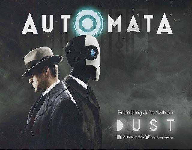 "Automata is premiering on @watchdust June 12th! Excited about this partnership and getting our ""little series that could"" out on the world wide web!!!!!!!!🕵️‍♂️🤖 ............. #automata #sciencefiction #scifi #robots #vfx #cgi #filmmaking #keepfilminwa #filmmaker #webseries #independent #comic #comics #filmmaker🎥 #syfy #dust #noir #filmnoir #dystopian #detectivecomics #detective"