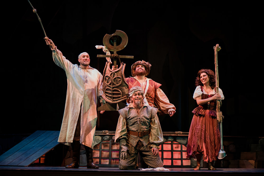 Orin Strunk as Sancho Panza  Corey McKern as Don Quixote/Alonso Quijana  Karin Mushegain  as Aldonza