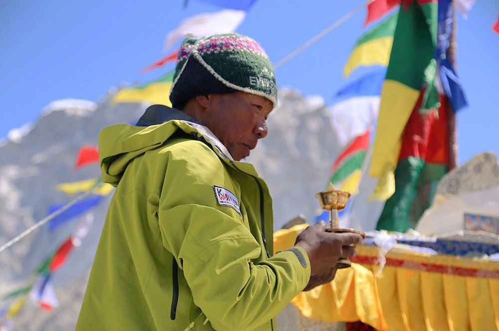 Puja at base camp