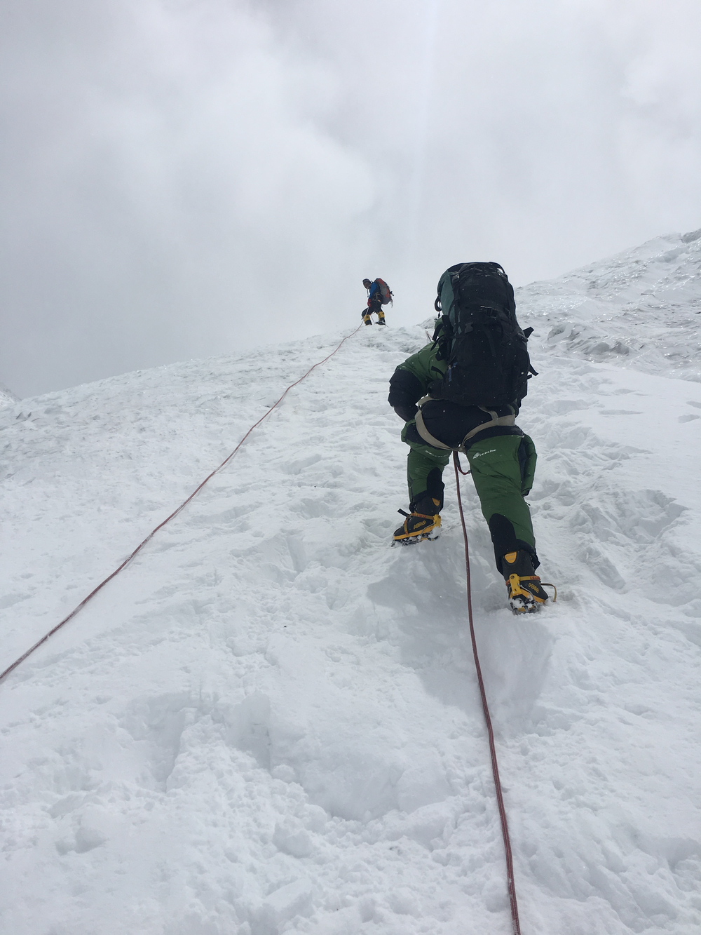 Climbing on the Lhotse Face