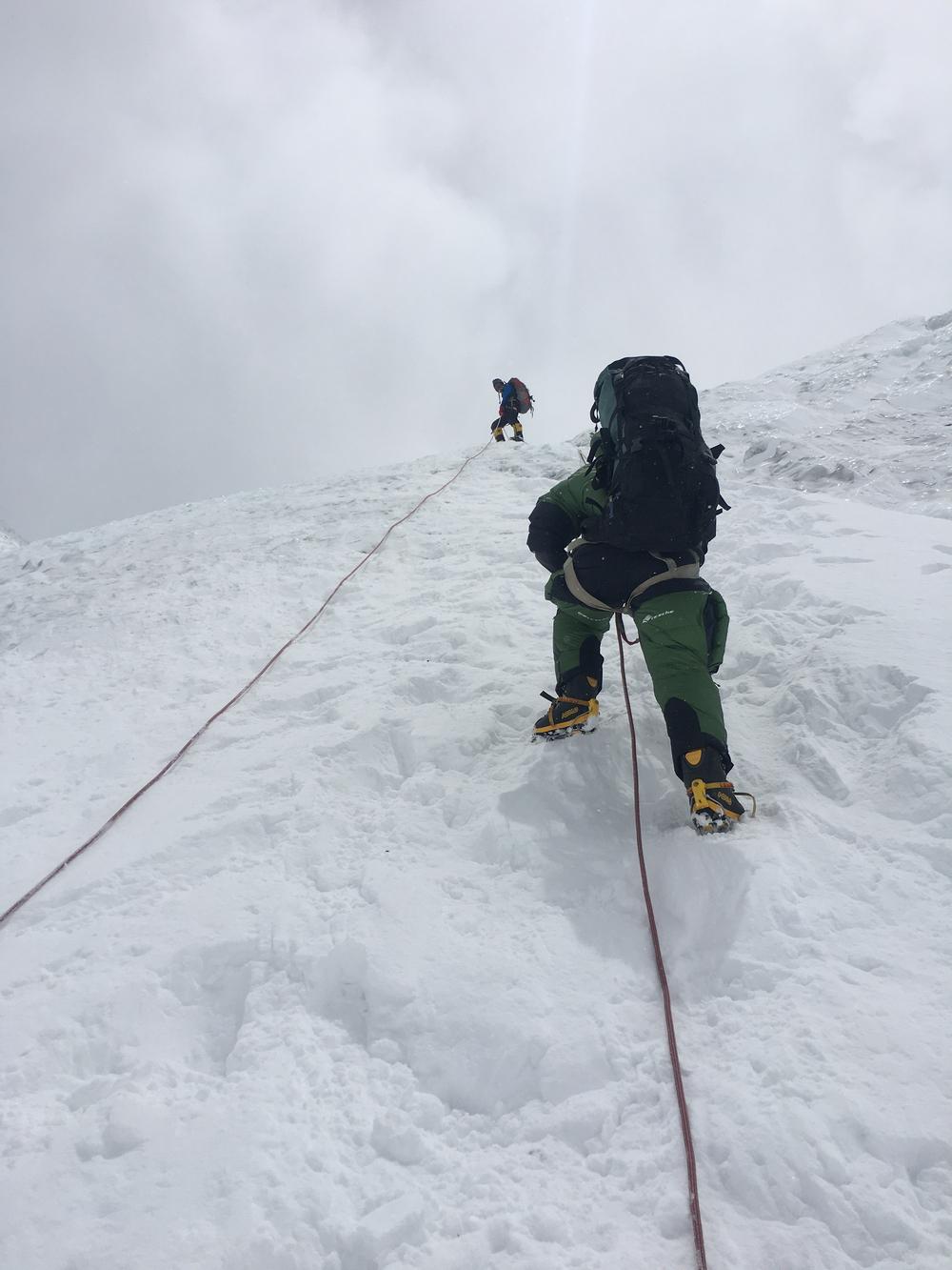 Climbing on the Lhotse Face